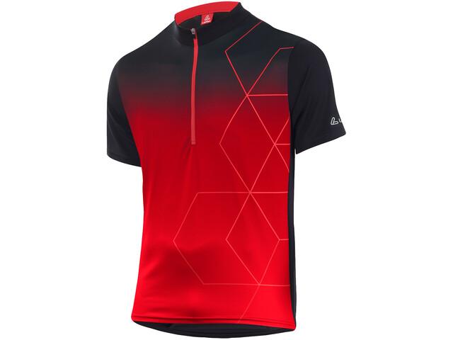 Löffler Evo Half-Zip Bike Shirt Men black/red